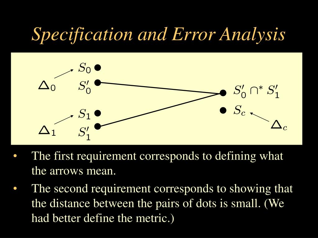 Specification and Error Analysis