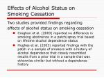 effects of alcohol status on smoking cessation