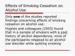 effects of smoking cessation on alcohol use