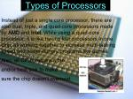 types of processors