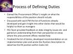 process of defining duties