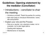 guidelines opening statement by the mediator conciliator