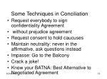 some techniques in conciliation