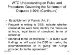wto understanding on rules and procedures governing the settlement of disputes 1994 continued2