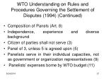 wto understanding on rules and procedures governing the settlement of disputes 1994 continued5