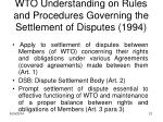 wto understanding on rules and procedures governing the settlement of disputes 1994