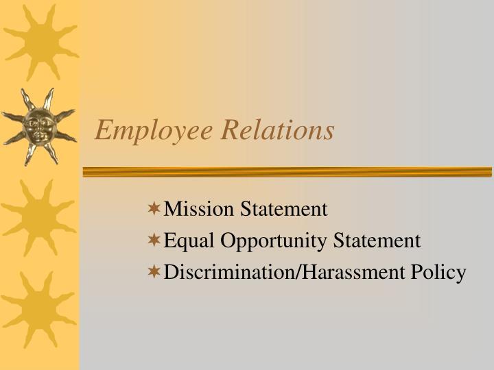 employee relations n.