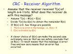 crc receiver algorithm
