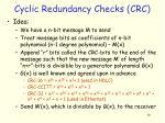 cyclic redundancy checks crc
