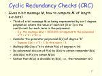 cyclic redundancy checks crc1