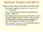 maximum transfer unit mtu