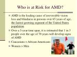 who is at risk for amd