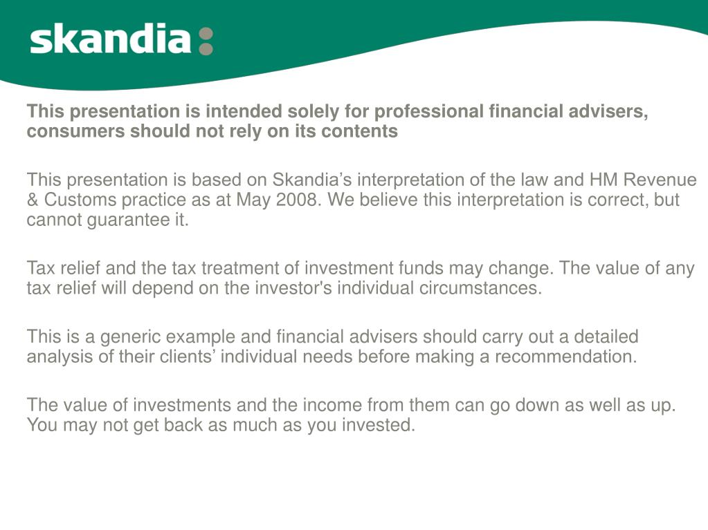 This presentation is intended solely for professional financial advisers, consumers should not rely on its contents