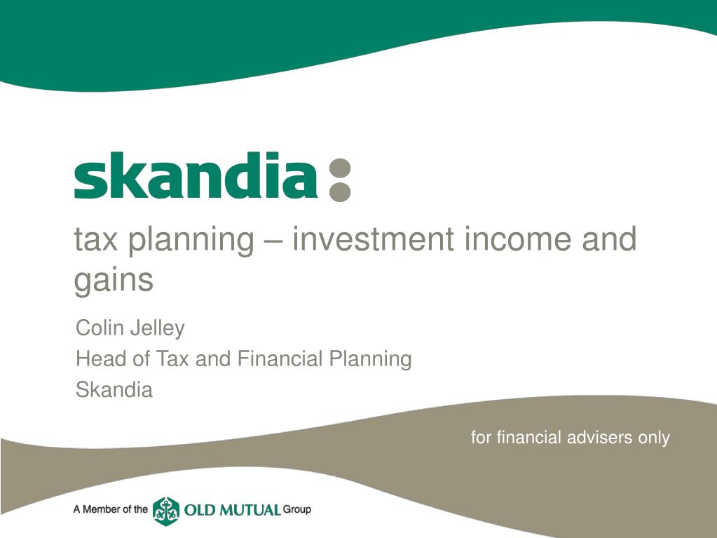 tax planning investment income and gains l.