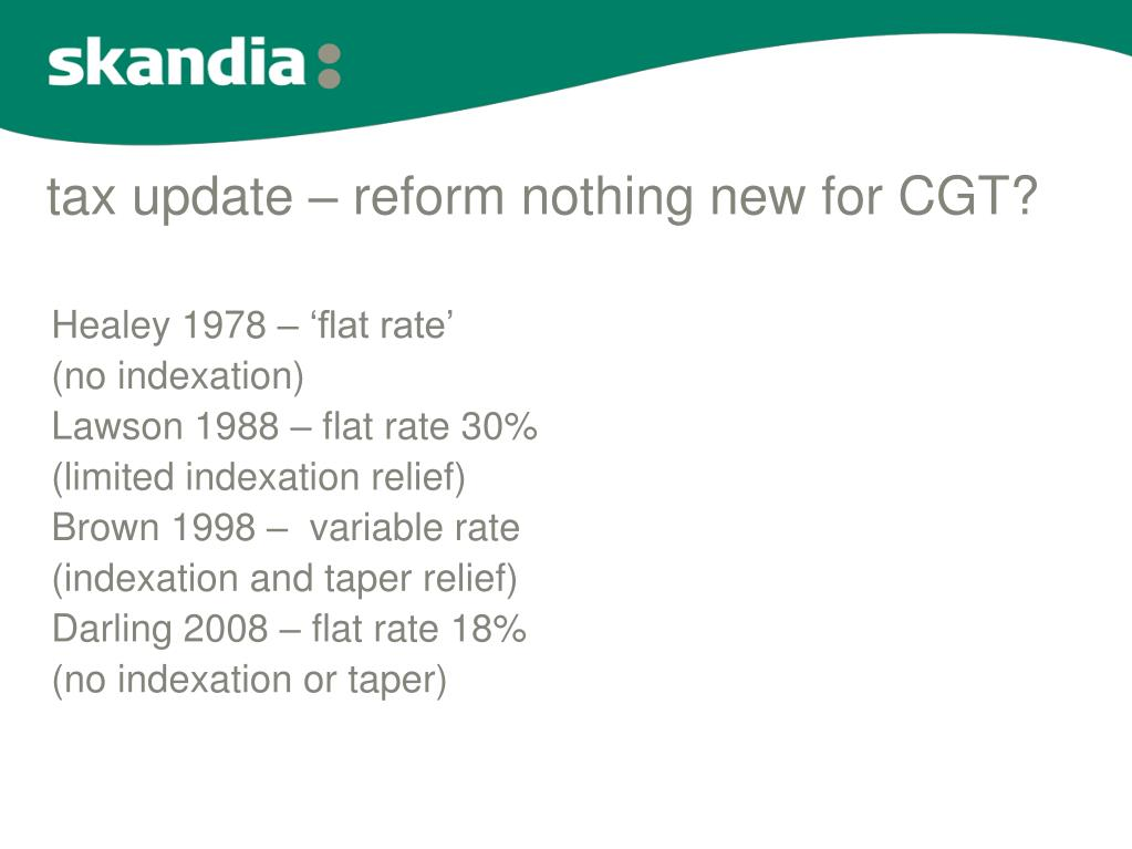 tax update – reform nothing new for CGT?