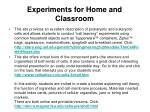 experiments for home and classroom