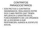 contratos parasocietarios