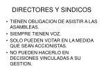 directores y sindicos