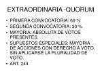 extraordinaria quorum