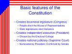 basic features of the constitution
