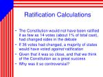 ratification calculations