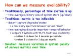 how can we measure availability
