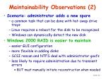 maintainability observations 2