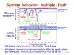 system behavior multiple fault