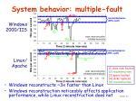 system behavior multiple fault1