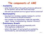 the components of ame