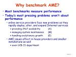 why benchmark ame