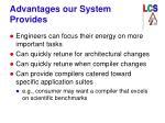 advantages our system provides
