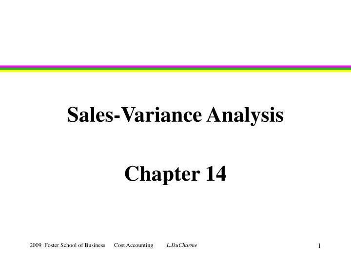 sales variance analysis n.