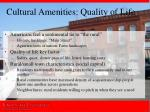 cultural amenities quality of life