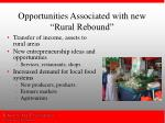 opportunities associated with new rural rebound