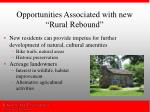 opportunities associated with new rural rebound1