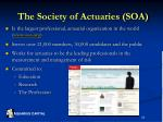 the society of actuaries soa