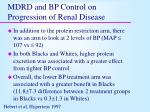 mdrd and bp control on progression of renal disease