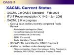 xacml current status