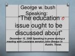 george w bush speaking1