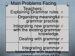 main problems facing teachers