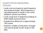 quantitative measures lexiles