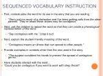 sequenced vocabulary instruction