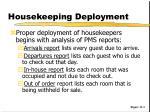 housekeeping deployment