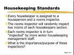 housekeeping standards