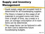 supply and inventory management