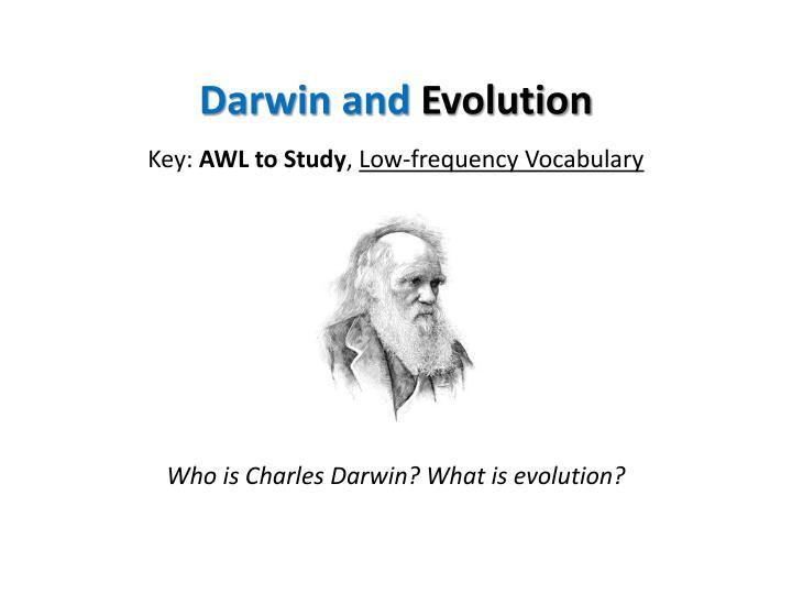 darwin and evolution n.