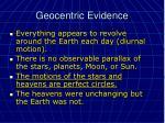 geocentric evidence
