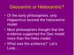 geocentric or heliocentric
