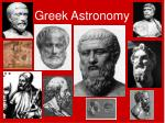 greek astronomy